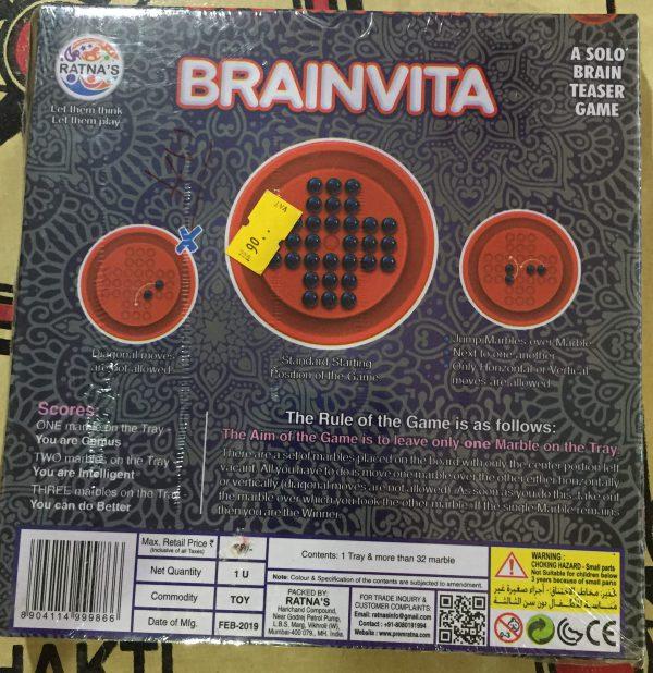 Brainvita - A solo Brain Teaser Game - 1 Player Game - Brainvita A solo Brain Teaser Game 1 Player Game 2