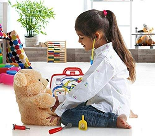 Medical Doctor Kit Foldable Suitcase for Kids Age 3+, High Quality, Multicolour(As available color) - Medical Doctor Kit Foldable Suitcase for Kids Age 3 High Quality Multicolour 3