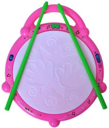 Deep Musical Educational Multi-Colored FLASH DRUM For Girls And Boys